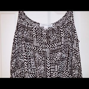 Ambiance Apparel Black & White Romper